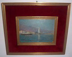 "Ricardo Verdugo Landi (Málaga, 1871 - Madrid, 1930) ""Puerto de Málaga"""