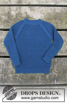Perkins / DROPS Children - Free Knitting Patterns by DROPS Design : Knitted patterned sweater with raglan sleeves for kids. The work is knitted in DROPS Baby Merino. Baby Knitting Patterns, Knitting Blogs, Knitting For Kids, Knitting Designs, Free Knitting, Drops Design, Raglan Pullover, Drops Baby, Pull Bebe