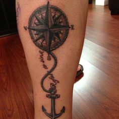 Nautical Compass And Anchor Nautical compass n anchor