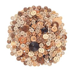 Shaped Wooden Buttons - Great for scrapbooking, jewelry and hair accessories or any craft project! OrientalTrading.com