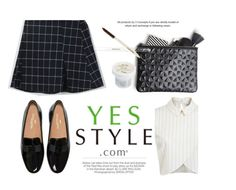 """YESSTYLE.com"" by monmondefou ❤ liked on Polyvore featuring Kershaw, Miss Selfridge, koreanfashion, fallfashion and yesstyle"