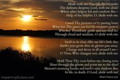 Precious Jesus, abide with me!
