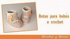 botas-zapatos crochet para bebes todas las edades- parte 2 - YouTube