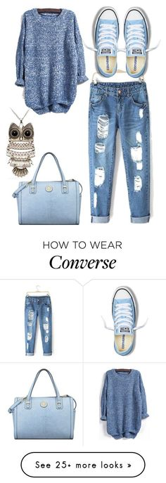 """Untitled #931"" by adancetovic on Polyvore featuring Converse, Anne Klein, women's clothing, women's fashion, women, female, woman, misses and juniors"