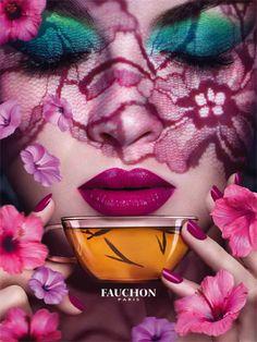 Enjoying some tea from Fauchon...brings back Paris memories