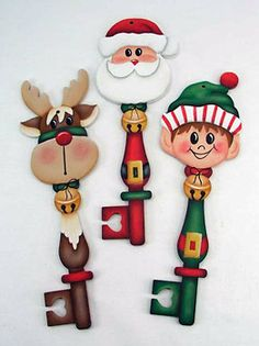 Santa & Friends Keys Packet by Jeanne Bobish