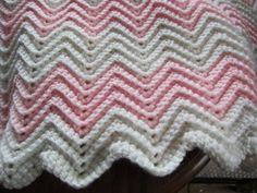 Baby ripple afgan by LilyLousCrochet on Etsy, $25.00