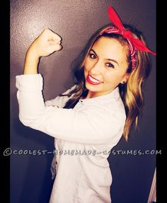 Cute and Easy Rosie the Riveter Costume... Coolest Halloween Costume Contest