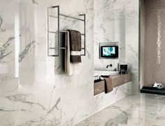 the powder room blog tile trends Perini Florence Calacutta thumb