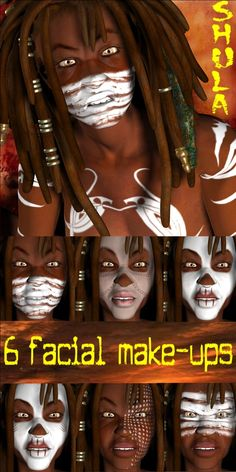 Voodoo facial makeup  A guide for Voodoo makeup? As if we really need a guide on how to appropriate....