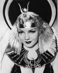 Claudette Colbert as Cleopatra from the 1934 film.
