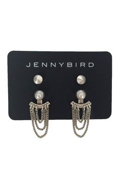 The details on these Jenny Bird silver earrings are so intricate!
