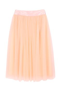 Apricot Zipper Mesh Yoke Skirt Would look so cute & cozy with a black or grey sweater