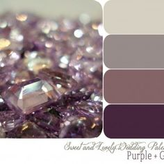 purple and grey palette