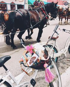 horses and bikes and fudge... #puremagic #puremichigan ✨