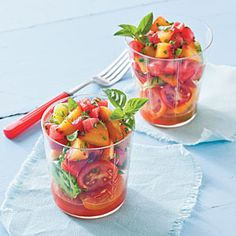 24 Ways with Fresh Tomatoes | Watermelon-Peach Salsa and Tomatoes | SouthernLiving.com