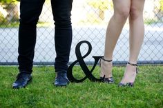 Engagement Shots: (Sorry, I like feet shots, is it weird?)  Love ampersands though.
