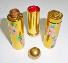 vintage perfume and lipstick