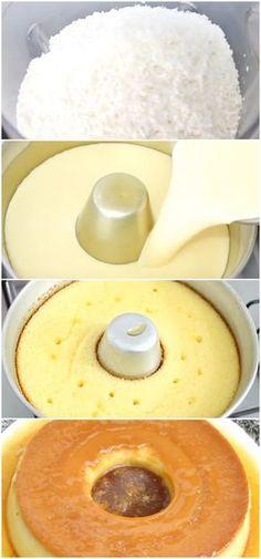 Pudim de cocada sobremesa perfeita para compartilhar em familia. #pudim #cocada #sobremesa #doce #receita #gastronomia #culinaria #comida #delicia #receitafacil