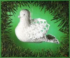 crochet FREE pattern for white doves / CROCHET DOVETREE ORNAMENT