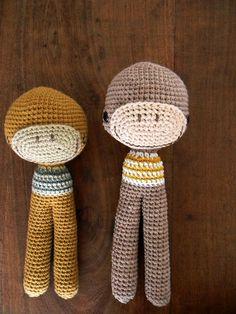 Enlarging Amigurumi Patterns : Monkey curtain tie back, cotton yarn crochet monkey ...