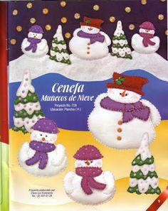 Foto: Christmas Themes, Christmas Holidays, Christmas Ornaments, Holiday Decor, Snowman, Album, Crafts, Creando Ideas, Food