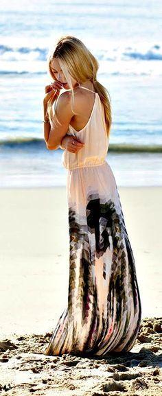 light pink and black, beautiful dress!