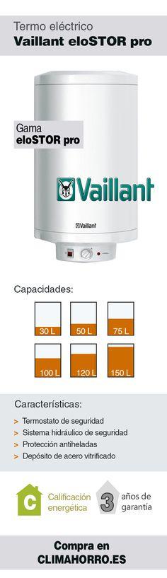 Termo eléctrico Vaillant eloSTOR pro  Consulta todas las características y compra online en climahorro.es.