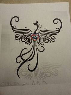 Idea for next tattoo..phoenix combined with Celtic motherhood knot., Brandie what do you think of this one