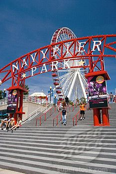 Ride the ferris wheel while eating a funnel cake. Chicago Travel, Chicago City, Chicago Illinois, Chicago Chicago, The Places Youll Go, Places To Go, Places To Travel, Navy Pier Chicago, Chicago Things To Do