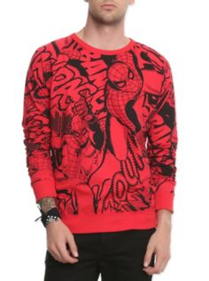 Love this! Marvel Universe Spider-Man Pullover