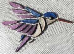 Mosaiksteine-Kolibri auf Netz zur Selbstverlegung von M.Haag-CreativeART auf DaWanda.com