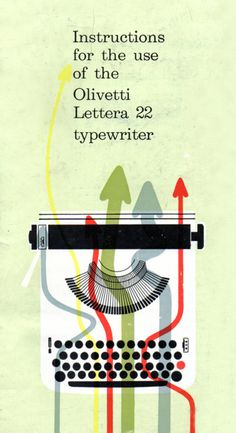 The beauty of simplicity.  Olivetti User Instructions