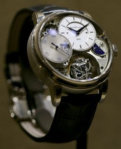 I'm not much into skeleton watches, but this one is interesting #Jaeger-LeCoultre Master #Grande Tradition #Gyrotourbillon 3 Jubilee Watch