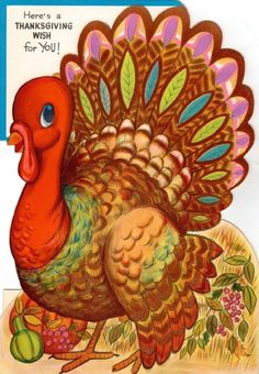 Vintage Thanksgiving Card-----Cute Turkey Stand Up Decor Thanksgiving Blessings, Thanksgiving Greetings, Vintage Thanksgiving, Vintage Holiday, Vintage Halloween, Holiday Fun, Thanksgiving Turkey Pictures, Thanksgiving Projects, Thanksgiving Wallpaper