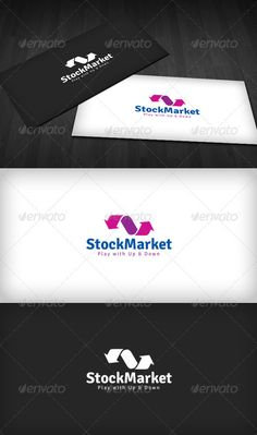 Stock Market Logo  #GraphicRiver         Stock Market Logo is a designed for Any types of companies. It is made by simple shapes Although looks very professional.
