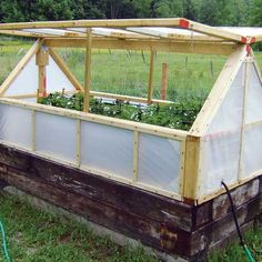 Transform raised beds into mini-greenhouses to extend the growing season. Learn how with this low-cost DIY options.