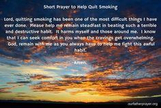 Short Prayer to Help Quit Smoking