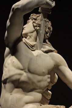 """The Ludovisi Gaul Killing Himself and His Wife (detail). The """"The Galatian Suicide""""  is a Roman marble group of the Ind century AD, copy of a Hellenistic bronze original."""