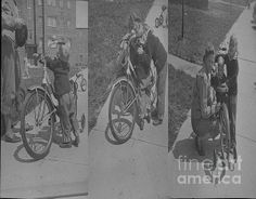 Title  Tryptch Bike Drama  Artist  Cathy Anderson  Medium  Photograph - Digital Art