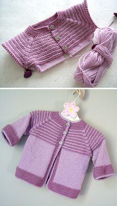 Baby Dress Pattern Free, Baby Cardigan Knitting Pattern Free, Kids Knitting Patterns, Baby Sweater Patterns, Knitted Baby Cardigan, Knit Baby Sweaters, Baby Dress Patterns, Knitted Baby Clothes, Free Pattern