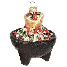 Pinnacle Peak Trading Company Salsa Bowl with Tortillas Polish Glass Christm ...  | eBay