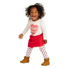 Love this baby girl Valentine's Day outfit from Old Navy!