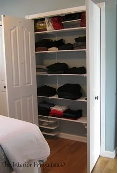 Organizing the new Master Bedroom Closet Expansion | The Interior Frugalista