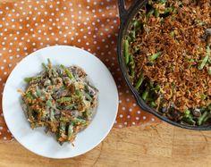 VEGAN THANKSGIVING! healthy green bean casserole with silken tofu!