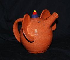 Elephant Teapot by CaptainColossal on DeviantArt Elephant Teapot, Elephant Love, Clay Teapots, Teapots And Cups, Teacups, Cute Teapot, Funny Cups, Teapots Unique, Tea Cozy
