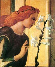 Angel Announcing (detail) : BELLINI, Giovanni : Art Images : Imagiva