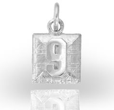 """This pendant was created for the Robbie Levine """"FOREVER Foundation. Robbie was 9 years old when his heart gave out on the baseball field.He will never be forgotten! 9 Year Olds, Baseball Field, Custom Jewelry, Foundation, Christmas Ornaments, Holiday Decor, Pendant, Heart, Design"""
