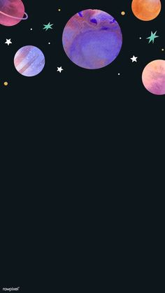 Download premium vector of Colorful galaxy watercolor doodle on black background mobile phone wallpaper vector by Toon about Galaxy wallpaper, iphone wallpaper, background, background watercolor, and banner 1230102
