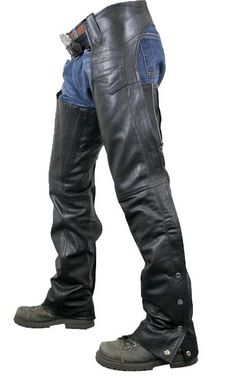 <b>Xelement Men's Advanced Dual Comfort System Leather Chaps</b><br><br>Just arrive to our online motorcycle gear collection. Men's advanced Elastic and Thigh Zipper Comfort system chaps. These chaps are made of premium high grade cowhide leather and Feature a new design comfort system by Xelement. The inner front thighs of the chaps have elastic and zipper closures on the back of the thighs. Zipper leg closures with silver snap buttons on the bottom, fully lined, one small pocket, belted…